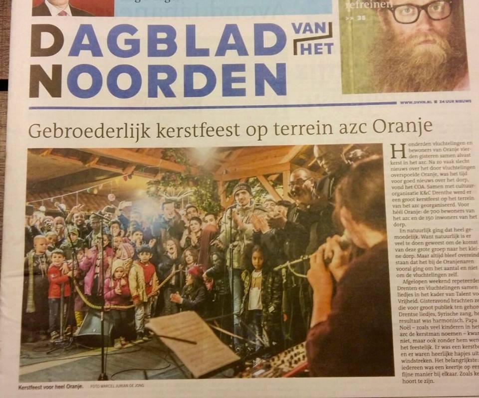 krant oranje